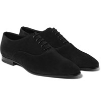Saint Laurent Suede Oxford Shoes Black
