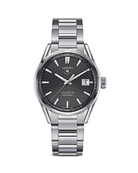 Tag Heuer Carrera Calibre 5 Stainless Steel Watch 39Mm Sivler Black