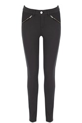Oasis Pinstitch Coated Jeans Black