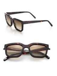 Glassing 48Mm Square Wayfarer Sunglasses Brown Green