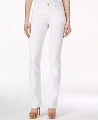 Inc International Concepts Petite Bootcut White Wash Jeans Only At Macy's White Denim