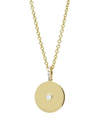 Domino White Topaz Disc Pendant In 18K Yellow Gold Kiki Mcdonough White Yellow Gold
