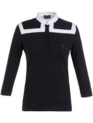 Golfino 3 4 Sleeve Mock Polo Black