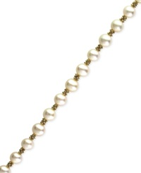 Effy Collection Effy Cultured Freshwater Pearl Bracelet In 14K Gold 5 1 2Mm White