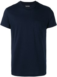 Tom Ford Round Neck T Shirt Blue