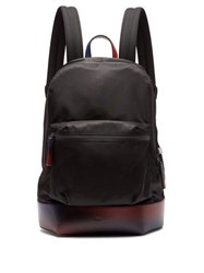 Berluti Volume Leather Trimmed Backpack Black