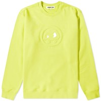 Mcq By Alexander Mcqueen Monster Patch Crew Sweat Yellow