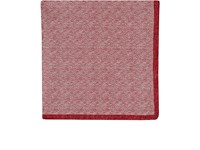Fairfax Men's Reversible Silk Pocket Square Red White