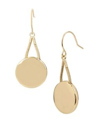 Kenneth Cole Circle Drop Earrings Gold