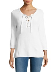 Tommy Bahama Pickford Lace Up Sweater White