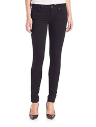 Paige Leggy Extra Long Ultra Skinny Jeans Black Shadow