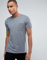Esprit Slim Fit T Shirt With Pocket And Cuffed Sleeve Grey 035