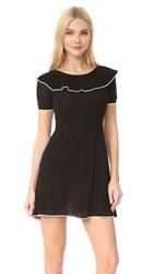 Boutique Moschino Short Sleeve Boat Neck Dress Black