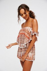 Free People Womens Ruffle My Feathers Romper