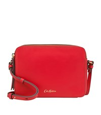 Cath Kidston Leather Cross Body Bag Red