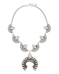 Lydell Nyc Howlite Squash Blossom Statement Necklace White