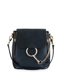 Chloe Faye Small Leather Suede Backpack Blue