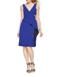 Bcbgmaxazria Riya Sleeveless Peplum Dress Deep Royal