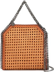Stella Mccartney 'Falabella' Woven Tote Brown