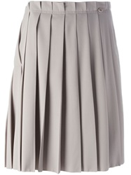 Agnona Pleated Skirt Nude And Neutrals