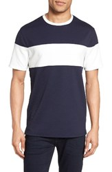 Vince Camuto Men's Colorblock Mesh T Shirt Navy With White