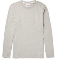 Norse Projects Niels Melange Cotton Jersey T Shirt Gray