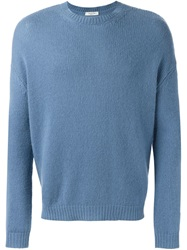 Valentino Classic Crew Neck Sweater Blue