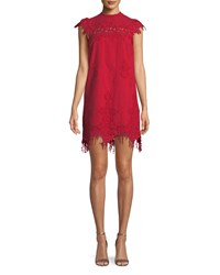 Saylor Frances Floral Fringe Mini Dress Cherry