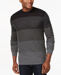Ryan Seacrest Distinction Colorblocked Crew Neck Sweater Only At Macy's Dark Navy