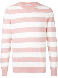 Gieves And Hawkes Striped Fitted Sweater Pink And Purple
