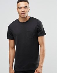Jack And Jones Crew Neck T Shirt With Rubberised Branding Black