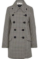 Derek Lam Woman Double Breasted Checked Jacquard Coat Brown