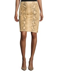 Ralph Lauren Tristan Python Pencil Skirt Multi