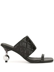 Manning Cartell Quilted Effect Embellished Heel Mules 60