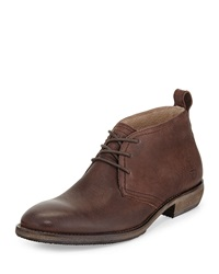 Andrew Marc New York Andrew Marc Standard Leather Oxford Boot Dark Brown