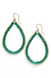Sonya Renee Women's Sonyarenee 'Mazzy' Teardrop Earrings Green Onyx