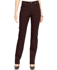 Style And Co. Straight Leg Tummy Control Jeans Colored Wash Espresso Bean