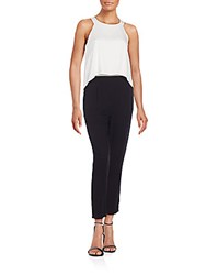 Ella Moss Layered Look Jumpsuit Black White