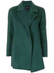 Theory Oversized Clairene Blazer Cashmere Wool L Green