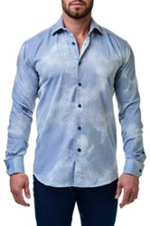 Maceoo Luxor Snake Trim Fit Geometric Sport Shirt Big And Tall Available