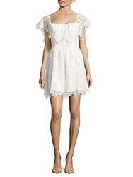 Lovers Friends Dream Vacay Popover Lace Dress White