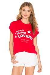 The Laundry Room Star Lovers Rolling Tee Red