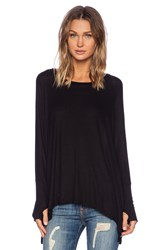 Michael Lauren Branson Draped Tee Black