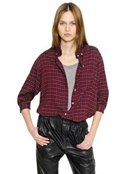 Etoile Isabel Marant Checked Light Wool Blend Flannel Shirt