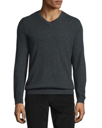 Vince Cashmere V Neck Sweater Heather Shadow H Shadow