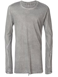 Lost And Found Ria Dunn Long Sleeved T Shirt Cotton Grey