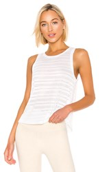 Beyond Yoga Balanced Muscle Tank In White.
