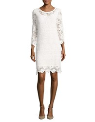 Velvet By Graham And Spencer Scalloped Lace Dress Cream