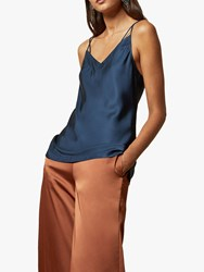 Ted Baker Zaudde Skinny Strap Cami Top Mid Blue