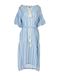 Bonsui Knee Length Dresses Sky Blue